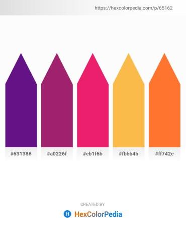 Palette image download - Indigo – Medium Violet Red – Crimson – Sandy Brown – Tomato