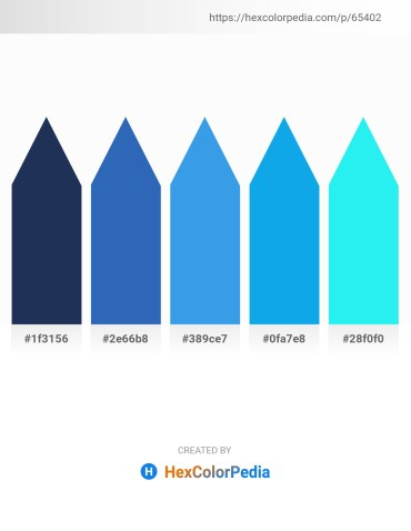 Palette image download - Midnight Blue – Steel Blue – Cornflower Blue – Deep Sky Blue – Aqua