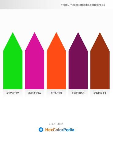 Palette image download - Lime – Medium Violet Red – Orange Red – Purple – Saddle Brown