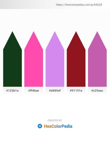 Palette image download - Blue – Hot Pink – Medium Purple – Firebrick – Pale Violet Red