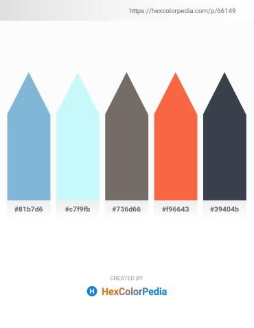 Palette image download - Light Blue – Light Cyan – Dim Gray – Tomato – Dark Slate Gray
