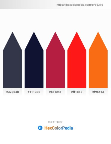 Palette image download - Dark Slate Gray – Midnight Blue – Firebrick – Red – Dark Orange