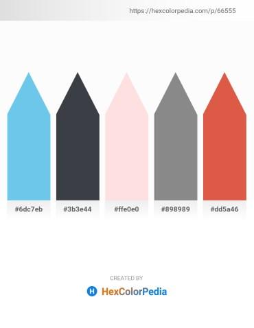 Palette image download - Sky Blue – Dark Slate Gray – Misty Rose – Gray – Chocolate