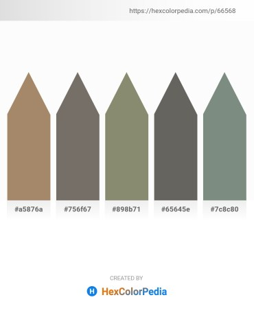 Palette image download - Rosy Brown – Dim Gray – Gray – Dim Gray – Slate Gray