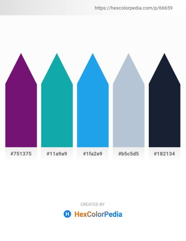 Palette image download - Purple – Light Sea Green – Dodger Blue – Light Steel Blue – Khaki