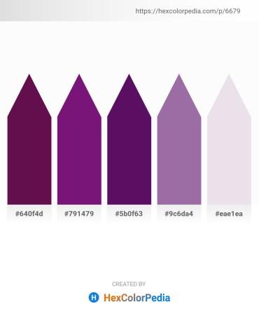 Palette image download - Purple – Medium Violet Red – Midnight Blue – Lemon Chiffon – Thistle
