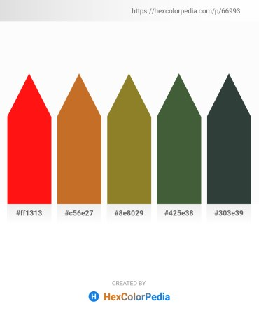 Palette image download - Red – Chocolate – Olive Drab – Dark Olive Green – Dark Slate Gray