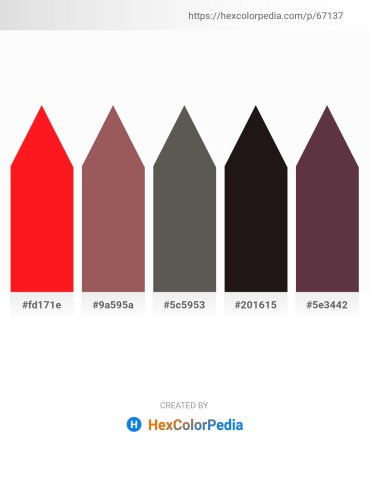 Palette image download - Red – Rosy Brown – Dim Gray – Black – Black