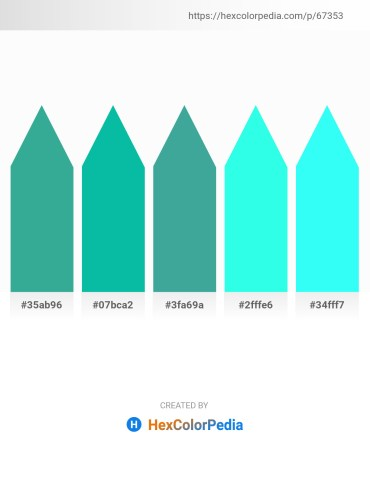 Palette image download - Medium Sea Green – Dark Turquoise – Medium Sea Green – Aqua – Aqua
