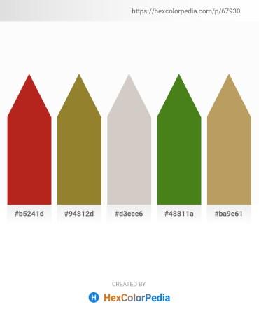 Palette image download - Firebrick – Red – Light Gray – Olive Drab – Dark Khaki
