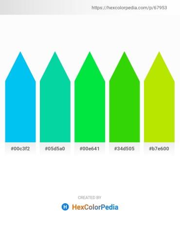 Palette image download - Deep Sky Blue – Medium Spring Green – Black – Lime – Chartreuse