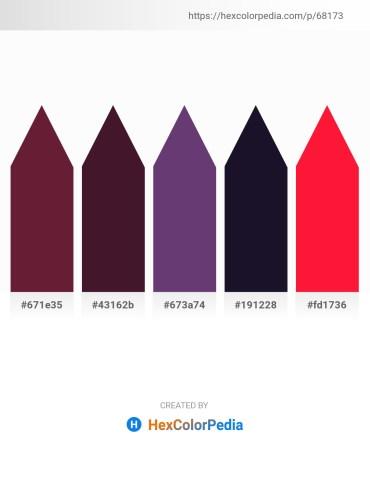 Palette image download - Brown – Brown – Dark Slate Blue – Chocolate – Red