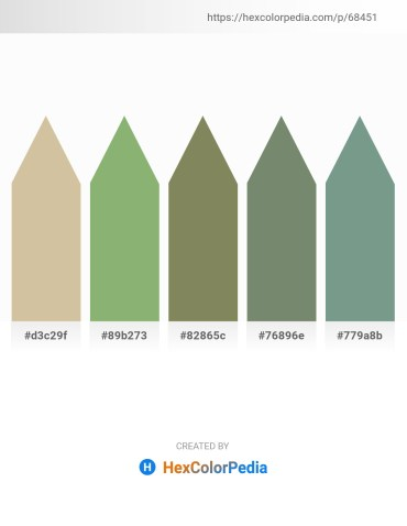 Palette image download - Tan – Dark Sea Green – Dim Gray – Dark Sea Green – Cadet Blue