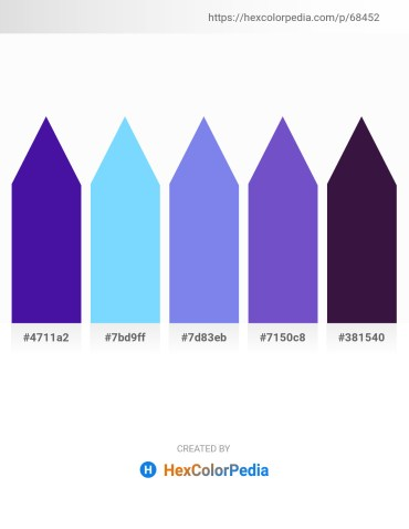 Palette image download - Indigo – Light Sky Blue – Medium Slate Blue – Slate Blue – Midnight Blue