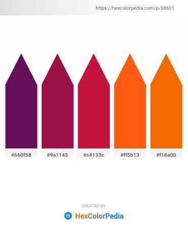 Palette image download - Purple – Firebrick – Crimson – Orange Red – Dark Orange