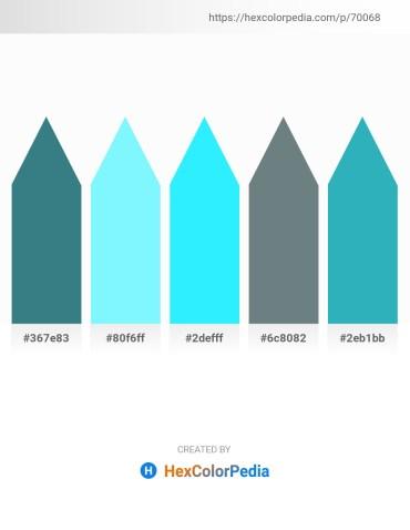 Palette image download - Steel Blue – Aquamarine – Aqua – Slate Gray – Light Sea Green