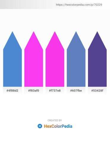 Palette image download - Royal Blue – Magenta – Magenta – Steel Blue – Dark Slate Blue