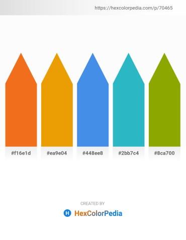Palette image download - Chocolate – Orange – Cornflower Blue – Light Sea Green – Olive