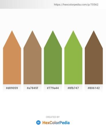 Palette image download - Peru – Red – Dark Olive Green – Yellow Green – Dark Olive Green
