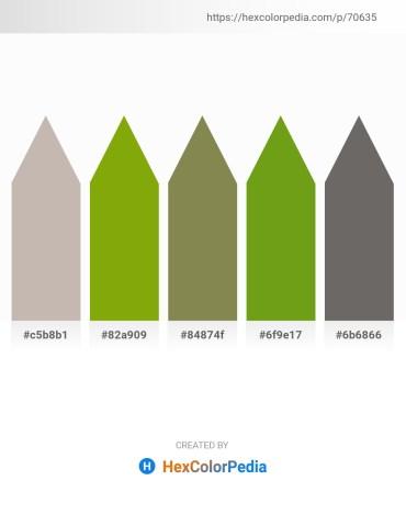 Palette image download - Silver – Olive – Dark Olive Green – Olive Drab – Dim Gray