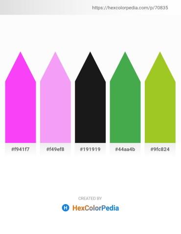Palette image download - Magenta – Medium Violet Red – Black – Medium Sea Green – Yellow Green