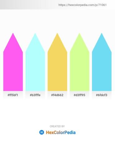 Palette image download - Hot Pink – Light Cyan – Dark Violet – Pale Green – Light Sky Blue