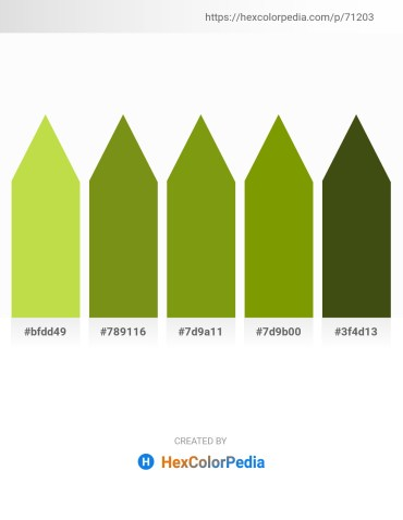 Palette image download - Yellow Green – Olive Drab – Olive Drab – Olive – Midnight Blue