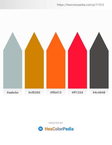 Palette image download - Dark Sea Green – Dark Goldenrod – Orange Red – Red – Dim Gray
