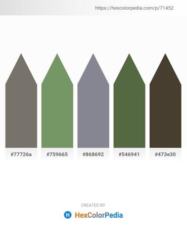 Palette image download - Dim Gray – Dark Sea Green – Light Slate Gray – Dark Olive Green – Gray