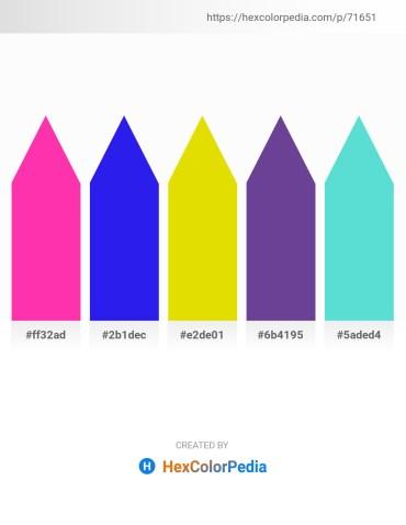 Palette image download - Deep Pink – Blue – Gold – Dark Slate Blue – Turquoise