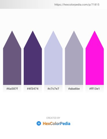 Palette image download - Dim Gray – Dark Slate Blue – Light Steel Blue – Light Slate Gray – Magenta