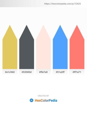 Palette image download - Burlywood – Dark Slate Gray – Misty Rose – Dodger Blue – Salmon