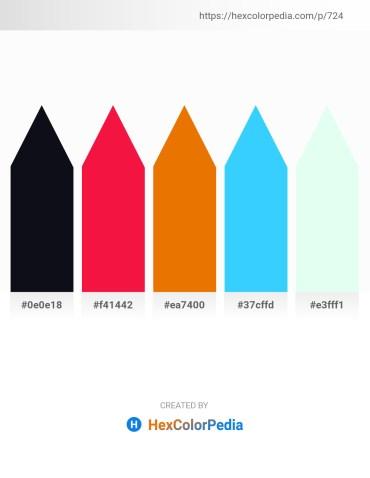 Palette image download - Black – Crimson – Dark Orange – Deep Sky Blue – Mint Cream