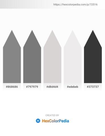 Palette image download - Gray – Gray – Light Gray – White Smoke – Dim Gray