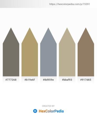 Palette image download - Dim Gray – Dark Khaki – Light Slate Gray – Yellow Green – Gray