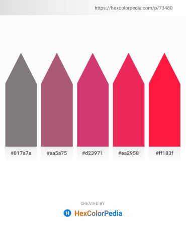Palette image download - Gray – Rosy Brown – Indian Red – Crimson – Red