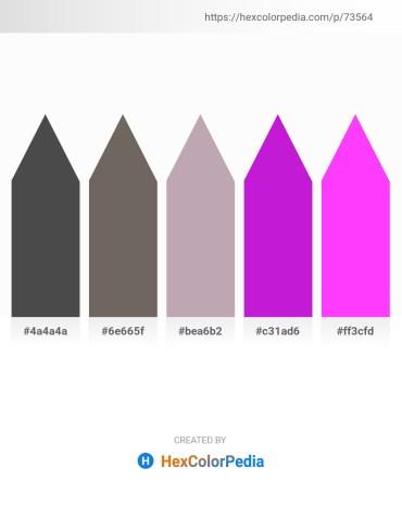 Palette image download - Dim Gray – Dim Gray – Rosy Brown – Blue Violet – Magenta