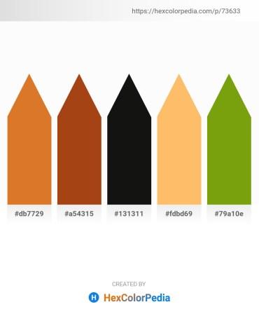 Palette image download - Chocolate – Saddle Brown – Black – Light Salmon – Olive