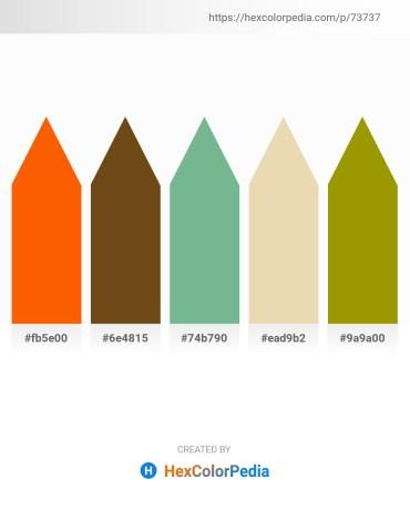 Palette image download - Orange Red – Saddle Brown – Dark Sea Green – Pale Goldenrod – Olive