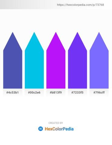 Palette image download - Steel Blue – Dark Turquoise – Dark Violet – Blue Violet – Medium Slate Blue