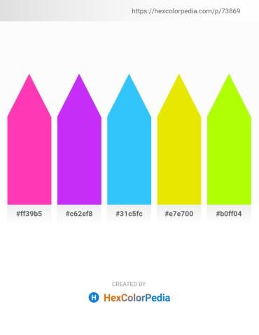 Palette image download - Deep Pink – Blue Violet – Dodger Blue – Gold – Chartreuse