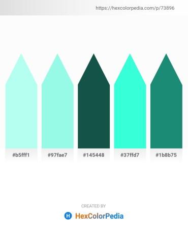 Palette image download - Light Cyan – Aquamarine – Light Sea Green – Aqua – Light Sea Green