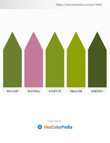 Palette image download - Dark Olive Green – Rosy Brown – Olive Drab – Olive – Dark Olive Green