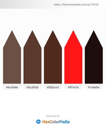 Palette image download - Dim Gray – Sienna – Burlywood – Red – Black