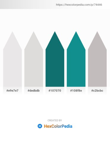 Palette image download - Gainsboro – Gainsboro – Teal – Light Sea Green – Silver