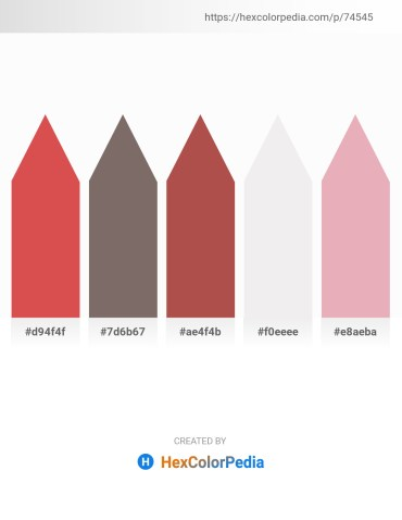 Palette image download - Indian Red – Dim Gray – Indian Red – White Smoke – Plum