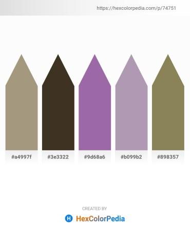 Palette image download - Dark Khaki – Light Steel Blue – Light Slate Gray – White Smoke – Dim Gray