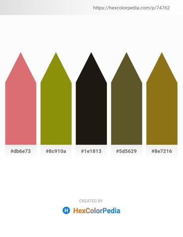 Palette image download - Pale Violet Red – Olive – Black – Dark Olive Green – Light Steel Blue
