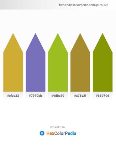 Palette image download - Peru – Slate Blue – Yellow Green – Peru – Olive
