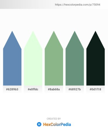 Palette image download - Steel Blue – Honeydew – Dark Sea Green – Cadet Blue – Dark Slate Gray